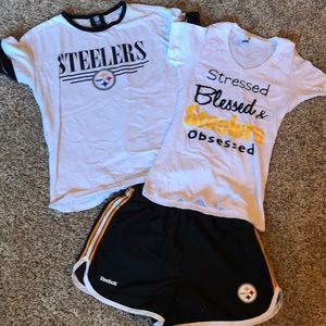 Steelers shirt and shorts Bundle 🏈